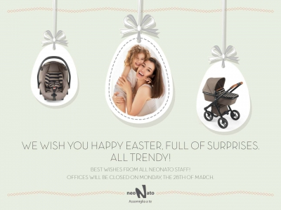WE WISH YOU HAPPY EASTER, FULL OF SURPRISES. ALL TRENDY!